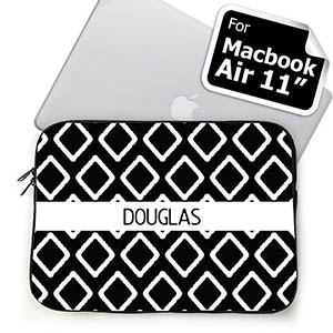 Custom Name Black Lkat Macbook Air 11 Sleeve
