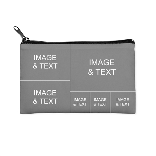 Instagram Six Collage Medium (2 Side Different Images) Makeup Bag (5 X 8 Inch)
