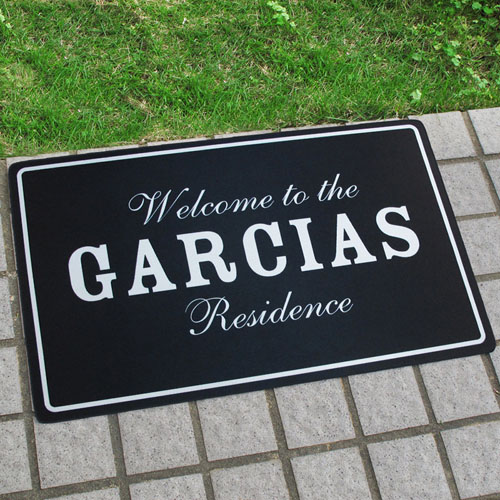 Create Your Own Personalized Classic Black Door Mat